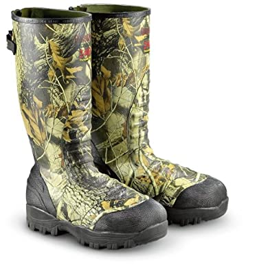Men's Guide Gear 2400 Thinsulate Ultra Insulation Rubber Boots Hardwoods Grey, HDWDS GREY, 8