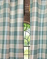 Beckford Silk Tafetta plaid curtain