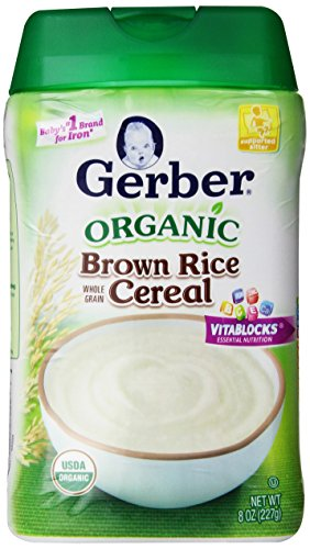 Gerber Organic Brown Rice Baby Cereal, 8 Ounce (Pack of 6) (Rice Cereal Organic compare prices)