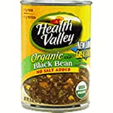 513drLPzFZL. SL160  Health Valley Black Bean Soup No Salt Added, 15 Ounce Cans (Pack of 12)
