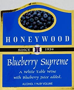 NV Honeywood WInery Blueberry Supreme Fruit Wine 750 mL