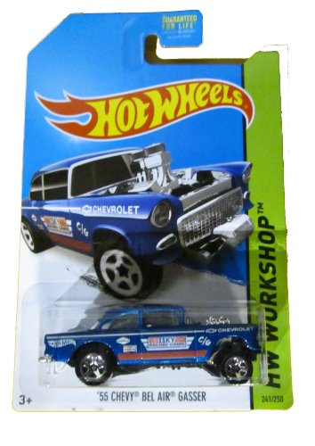 Hot Wheels 2014 Hw Workshop Performance '55 Chevy Bel Air Gasser 241/250 - 1