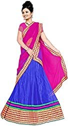Jay Ambe Creation Women's Viscose Unstitched Lehenga Choli (dno146a, Pink & B...