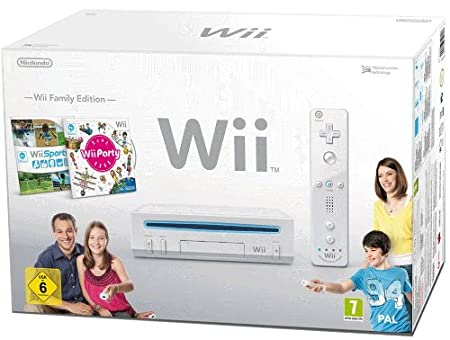 Wii Konsole Family Edition , weiß mit Wii Sports + Party [Edizione: Germania]