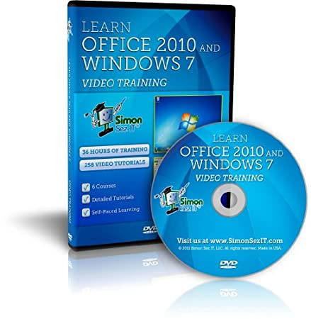 Learn Microsoft Office 2010 and Windows 7 - 36 Hours of Video Training Tutorials for Windows 7, Excel, Word, Powerpoint, Outlook and Access 2010