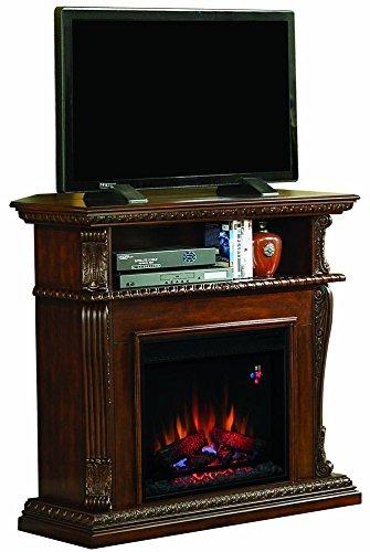 Classic Flame Walnut Corinth Wall/Corner Dual Electric Fireplace 23DE1447-W504