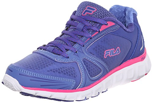 Fila Women's Memory Solidarity-W Running Shoe, Royal Blue/Wedgewood/Pink Glow, 9 M US
