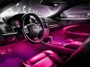 interior led underdash lighting kit 4pc pink automotive. Black Bedroom Furniture Sets. Home Design Ideas