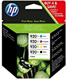 HP 920XL Cartouche d'encre d'origine Pack de 4 Noir Cyan Magenta Jaune