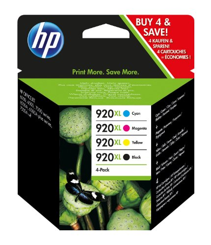 HP Tintenpatrone 920XL, 4-er Pack