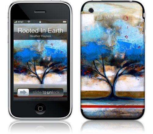 Apple iPhone 3G Premium Vinyl Skin - Rooted In Earth (GelaSkins Brand) Made in Canada