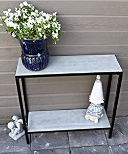 Amazon 2 Tier Concrete Outdoor Patio Console Buffet