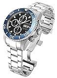 Invicta 18910 Men's Pro Diver Reserve Chrono Black Dial Steel Bracelet Automatic Dive Watch