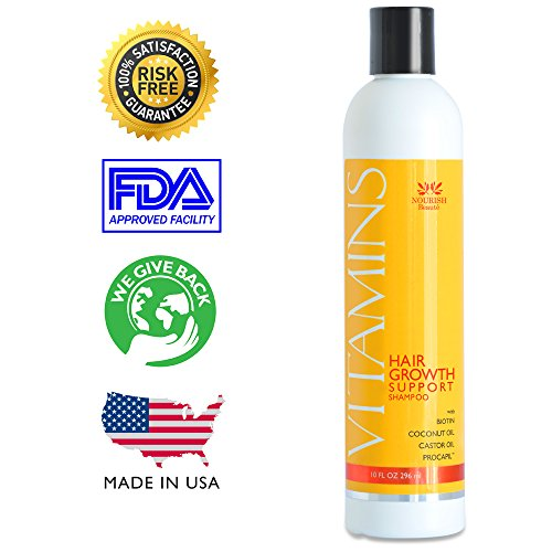 Vitamins Shampoo For Hair Growth -121% Increased Hair Growth And 46% Less Hair Loss In Clinical Trials. Biotin And Coconut Oil Reduce Thinning And Help Make Hair Grow Faster In Men And Women. No Drugs, Unlike Minoxidil Or Rogaine. With Natural Procapil®,