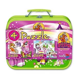 Schauen Sie sich Kundenbewertung für Noris Spiele 606037346 - Filly Unicorn Puzzlekoffer 4 Puzzles