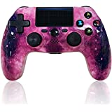 CHENGDAO PS4 Controller Wireless Bluetooth High Performance Controller for Playstation 4/Pro/Slim/PC with Led Bar, Multi-Touch Clickable Touch Pad (Purple) (Color: Purple)