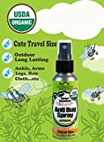 Anti Bug Spray ★ USDA Certified Organic Insect Repellent, 2 Fl. Oz ★ TRAVEL size, OUTDOOR use, Long Lasting ★ DEET Free, Kid Safe ★ Pleasant Refreshing Herbal Scent ★ Pure essential oils to Naturally keep bugs, mosquitoes, black flies, ticks and insects away ★ Shake well before use ★ No synthetic chemicals, No Alcohol ★ Cruelty Free , No animal tested ★ Made in USA ★ by US Organic - Nature for Nature