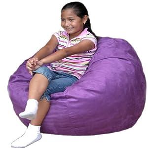 cozy sack 2 feet kids foam bean bag chair small purple kitchen dining. Black Bedroom Furniture Sets. Home Design Ideas