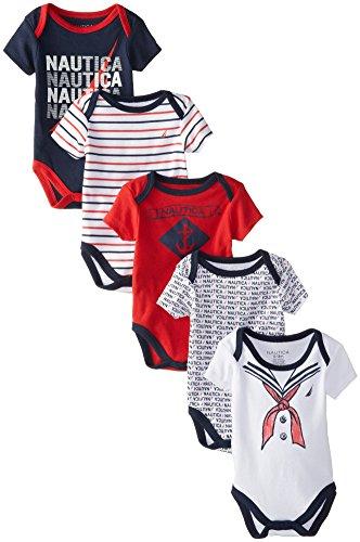 nautica-baby-boys-newborn-5-pack-sailor-bodysuit-assorted-3-6-months