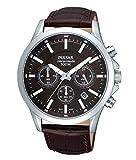 [セイコー パルサー]SEIKO PULSAR 腕時計 ウォッチ クロノグラフ 100M防水 ブラウン レザーバンド メンズ [並行輸入品]