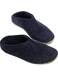 Womens Model B Natural Wool Open Slipper Purple 36 M EU