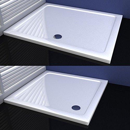 AICA Duschwanne Duschtasse für Duschkabine Duschtür Duschabtrennung 70x90cm