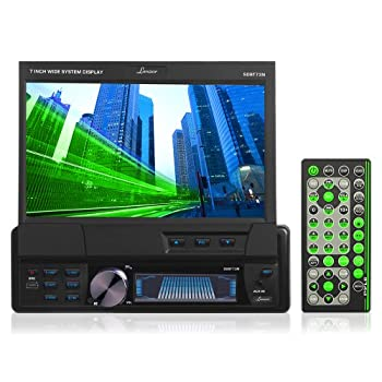 lanzar sdbt73n 7-inch single-din in-dash motorized touchscreen tft/lcd  monitor with dvd/cd/mp3/mpeg4/usb/sd/am/fm/rds receiver
