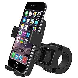 iOttie One-Touch Bike Mount Holder for iPhone 6/5s/5c/4s, Samsung Galaxy S5/S4, Google Nexus 5 - Retail Packaging - Black
