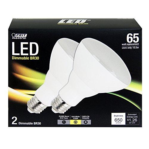 Feit Br30/Dm/Ledg3/2 Br30 Led Light, Fully Dimmable, 2-Pack