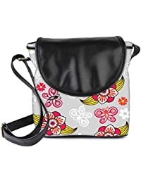 Snoogg Spring Seamless Pattern With Flowers And Ladybirds Womens Sling Bag Small Size Tote Bag