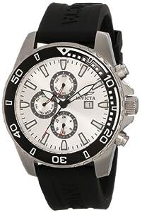 Invicta Men's 10920 Specialty Silver Dial Black Polyurethane Watch