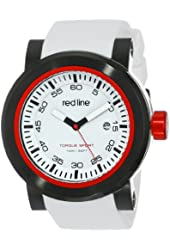 """red line Men's RL-50049-BB-02 """"Torque"""" Stainless Steel Watch with White Silicone Band"""