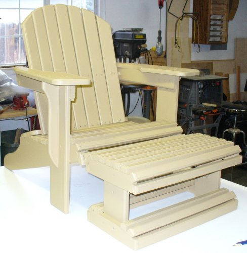 Build Your Own Adirondack Chair With Footstool Pattern: Plan Is So Easy, Beginners Look Like Experts