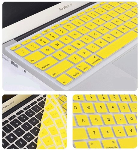 Lead Tech� New Silicone Rubber Keyboard Film Cover Film For Apple Macbook Air 13 inch (Yellow)