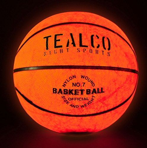 TealCo Light-Up Basketball - Full Size! Tough! Brighter than Glow In the Dark!  Category:gl_sports