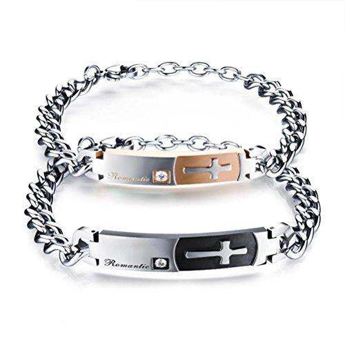 ZPL bracciale in acciaio titanio coppia gioielli braccialetto classico regalo di San Valentino