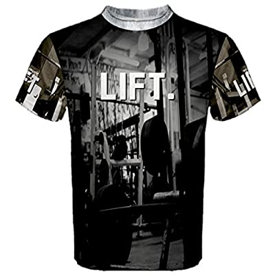 LIFT Weight Lifting bodybuilding Men's Sport Mesh T-shirt