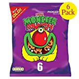 Walkers Monster Munch Pickled Onion Snacks 6 x 22g