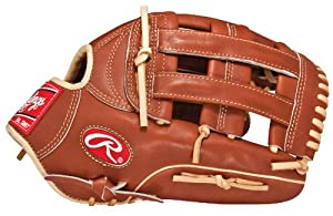Rawlings Pro Preferred 12.75-inch Outfield Baseball Glove, Right-Hand Throw (PROS303-6BR)