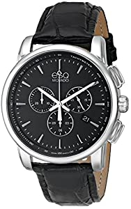 ESQ Movado Men's 07301469 Capital Analog Display Swiss Quartz Black Watch