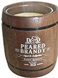 Decoware Peared Brandy Scented 2-Wick 16.53 Oz. Candle In Real Wooden Barrel