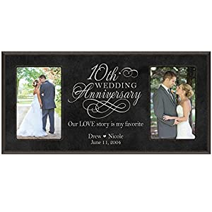 ... Gift Personalized 10th wedding anniversary with Couples names and