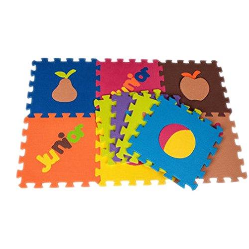 Lukis 10tlg. Spielmatte Kinderteppich Puzzlematte Spielteppich Schaumstoffmatte Matte Obst