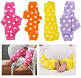 juDanzy Polka Dot 4 Pack Baby & Toddler Leg Warmers