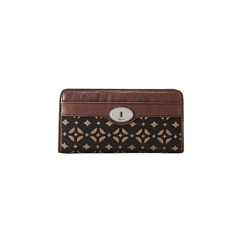 Marlow Zip Clutch Color BLACK/BROWN Wallet
