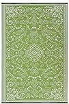 Fab Habitat 4-Feet by 6-Feet Murano IndoorOutdoor Rug Lime