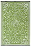 Fab Habitat 6-Feet by 9-Feet Murano Indoor/Outdoor Rug, Lime Green and Cream
