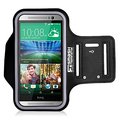 HTC Running Jogging Armband, Smash Terminator Sports Gym Arm Band Case Cover Holder For HTC One S9 M9, HTC 10 (As Seen in Runners World Magazine – 5 Stars) inc. by AllThingsAccessory