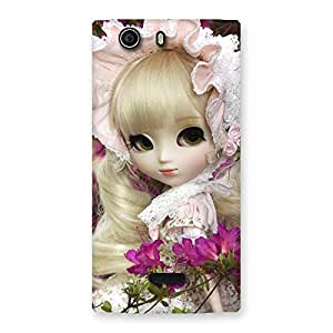 Gorgeous Looks Of Angel Doll Multicolor Back Case Cover for Canvas Nitro 2 E311