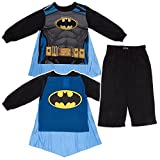 """Batman Little Boys Toddler """"Caped Crusader"""" 2-Piece Pajamas with Cape"""
